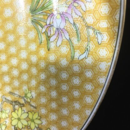 Wedgwood bone china plate, 'honeycomb' & flowers, c.1815 -27158