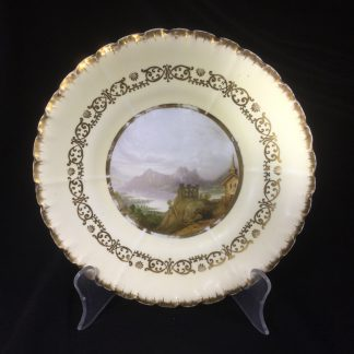 Copeland & Garret scenic plate, 'Junction of the Rhine', c.1833-47-0