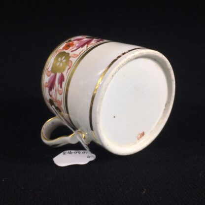 Spode coffee can, pattern #889, gilt & red flower frieze, c. 1820-26511