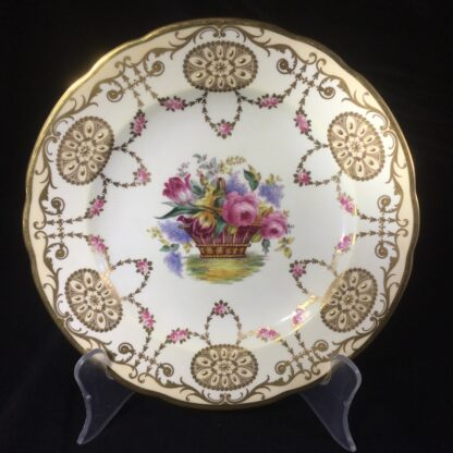 Copeland Spode plate, basket of flowers, early 20th century -0