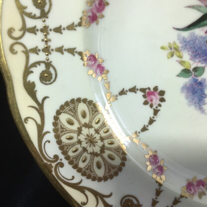 Copeland Spode plate, basket of flowers, early 20th century -27163