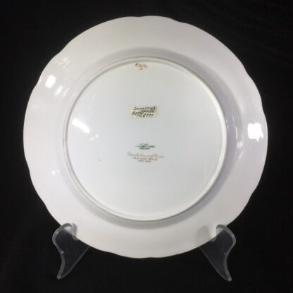 Copeland Spode plate with flowers, for David Collamore & Co, early 20th century-27169