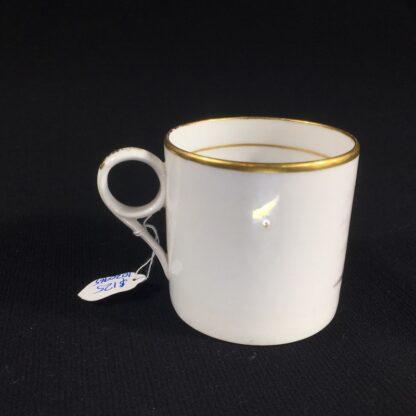 English porcelain coffee can, scenic bat print, poss. Machin c.1810 -26490