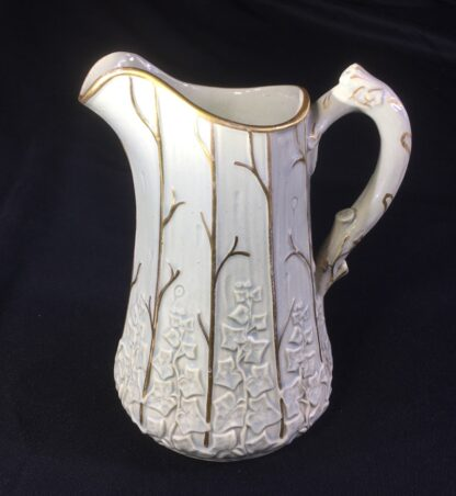 Victorian jug moulded with wood & ivy, Morely & Ashworth, c.1860 -27116