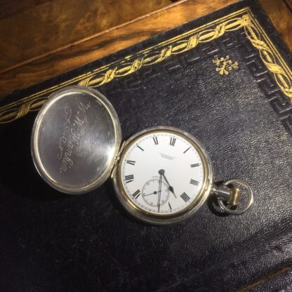 American Elgin Sterling keystone fob watch, for Dunklings Melbourne, c. 1900-0