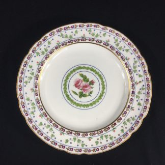 Chamberlains Worcester plate, rose & wreath pattern, c. 1810-0