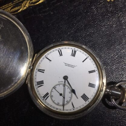American Elgin Sterling keystone fob watch, for Dunklings Melbourne, c. 1900-27147