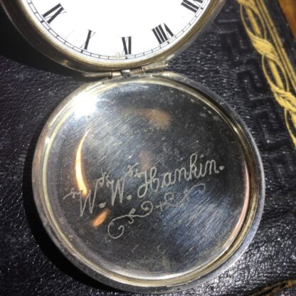 American Elgin Sterling keystone fob watch, for Dunklings Melbourne, c. 1900-27148