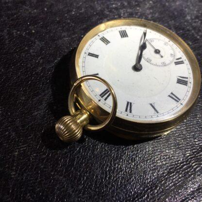 Swiss pocket watch, 18K gold case-27139