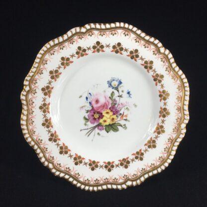 Copeland & Garrett 'Feldspar Porcelain' plate, flowers pattern #4033, c.1840 -0