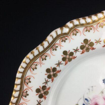 Copeland & Garrett 'Feldspar Porcelain' plate, flowers pattern #4033, c.1840 -26443