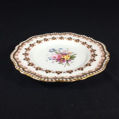 Copeland & Garrett 'Feldspar Porcelain' plate, flowers pattern #4033, c.1840 -26442