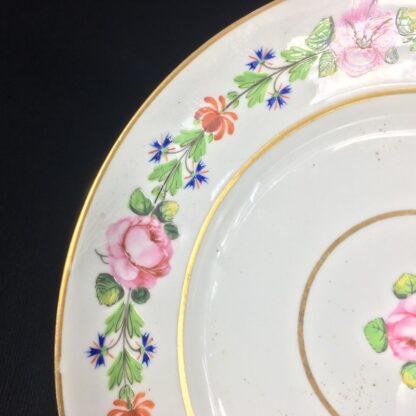 Derby plate, roses honeysuckle & cornflowers, c. 1800-26435