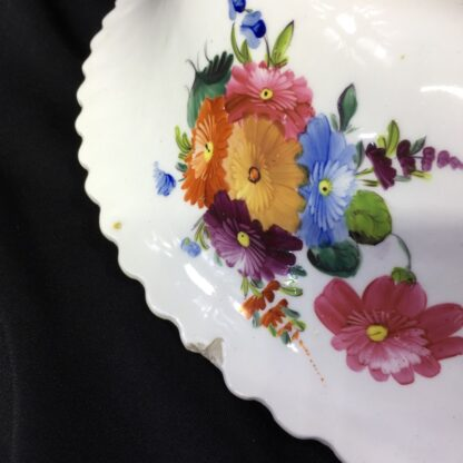 Large Coalport basin, flower moulding & painted, c. 1840-28033
