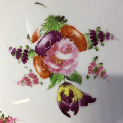 Coalport plate, flower moulding & brightly painted, c. 1840-28019