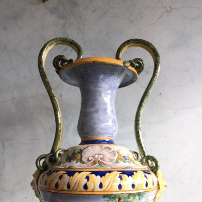 Large Italian Maiolica vase, in the Renaissance manner, 19th century-27967