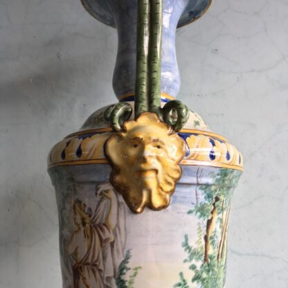 Large Italian Maiolica vase, in the Renaissance manner, 19th century-27972