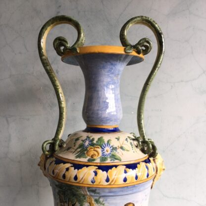 Large Italian Maiolica vase, in the Renaissance manner, 19th century-27974