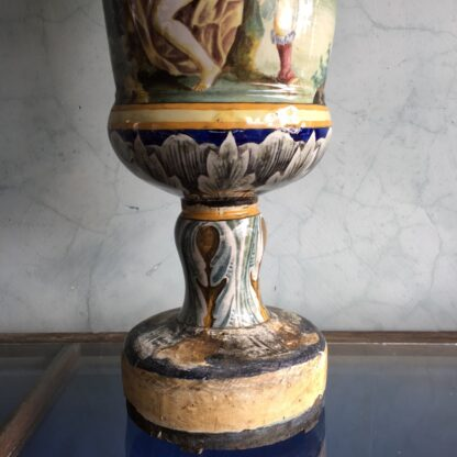 Large Italian Maiolica vase, in the Renaissance manner, 19th century-27971