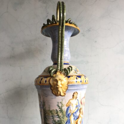 Large Italian Maiolica vase, in the Renaissance manner, 19th century-27975