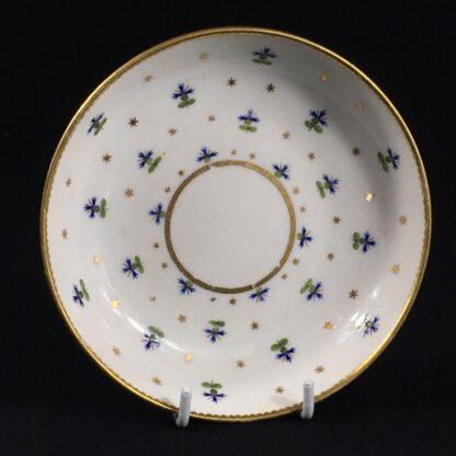 Derby beaker & saucer, cornflower pattern #100, c. 1790-26644