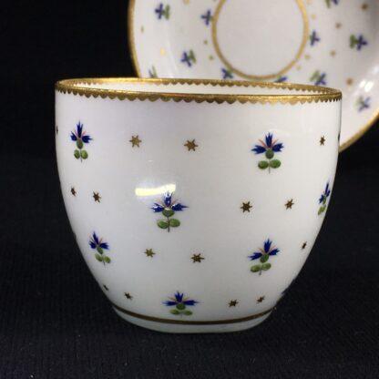 Derby beaker & saucer, cornflower pattern #100, c. 1790-26647