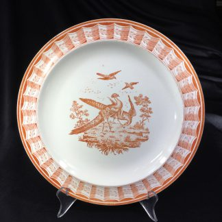 Wedgwood creamware plate with 18th century bird print, 1868-0