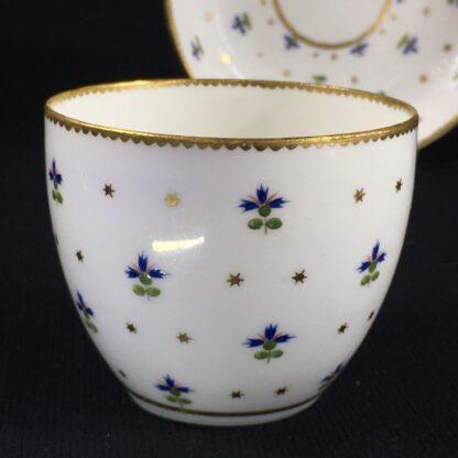 Derby beaker & saucer, cornflower pattern #100, c. 1790-26648