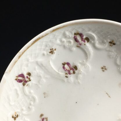 Ridgway cup & saucer, rococo moulding & pat.2/864, c. 1830-26638