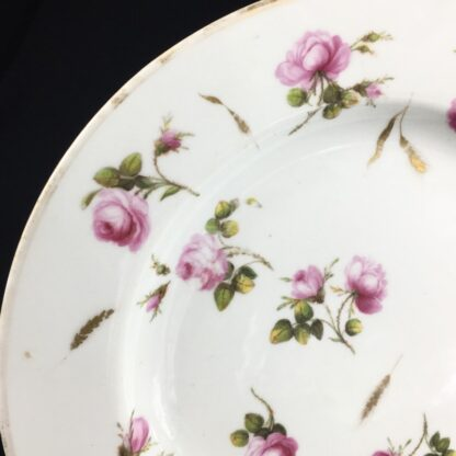 Derby plate with scattered roses & gilt wheat heads, c. 1800-26870