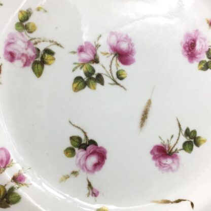 Derby plate with scattered roses & gilt wheat heads, c. 1800-26873
