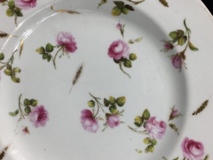 Derby plate with scattered roses & gilt wheat heads, c. 1800-26877