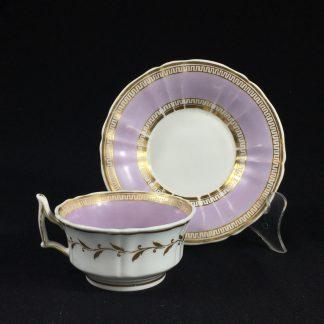 Chamberlain Worcester cup & saucer, 'New Dejeunner' shape, c. 1825-0