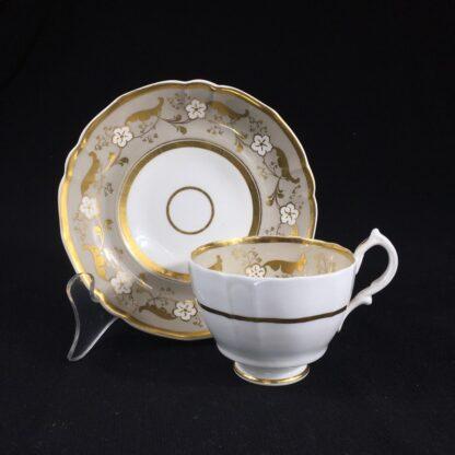 Samuel Alcock cup & saucer, 'Percy Adams' shape, pattern 5095, c. 1840 -26593