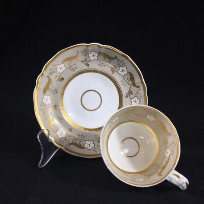 Samuel Alcock cup & saucer, 'Percy Adams' shape, pattern 5095, c. 1840 -26592