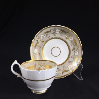 Samuel Alcock cup & saucer, 'Percy Adams' shape, pattern 5095, c. 1840 -0