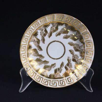 Coalport coffee can & saucer with rich gilt acanthus spiral pattern, c. 1800-26584