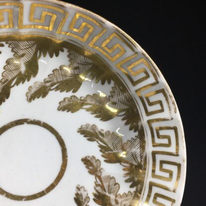 Coalport coffee can & saucer with rich gilt acanthus spiral pattern, c. 1800-26587