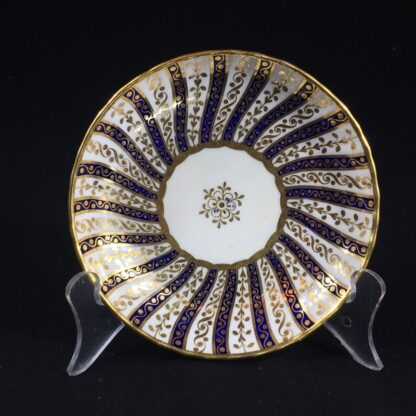 Minton coffee cup & saucer, rich gilt & blue spiral pattern, 1867-26580