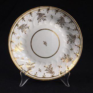 Coalport saucer-dish with gilt sprig pattern, c. 1800-0
