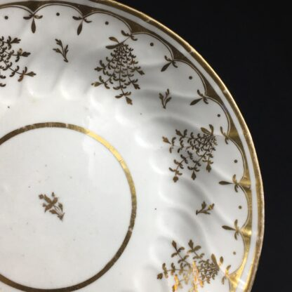 Coalport saucer-dish with gilt sprig pattern, c. 1800-26571