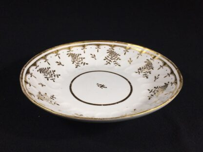 Coalport saucer-dish with gilt sprig pattern, c. 1800-26575