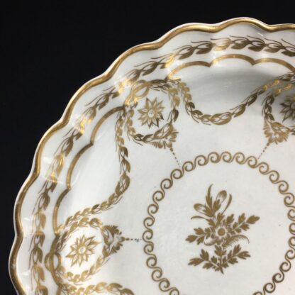 Caughley plate with rich Neo-classical gilding, circa 1780-26553
