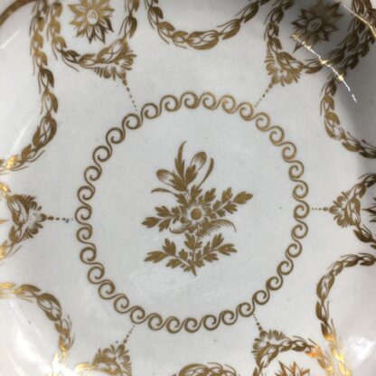 Caughley plate with rich Neo-classical gilding, circa 1780-26557