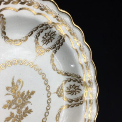 Caughley plate with rich Neo-classical gilding, circa 1780-26554