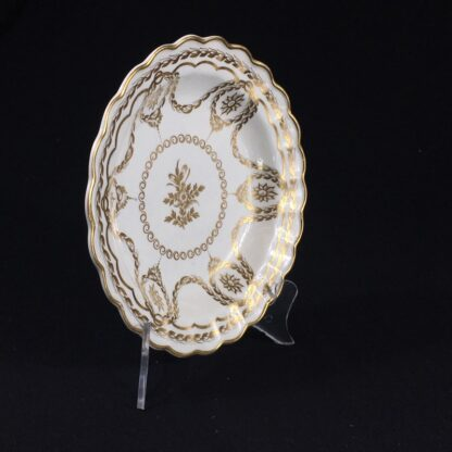 Caughley plate with rich Neo-classical gilding, circa 1780-26556