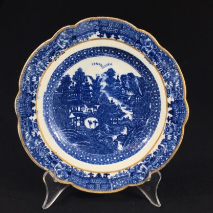 Caughley plate printed with the 'conversation' pattern, c. 1780-0