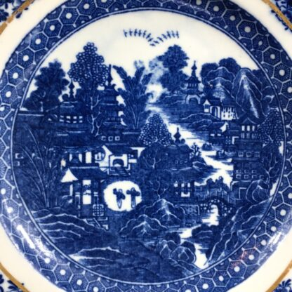 Caughley plate printed with the 'conversation' pattern, c. 1780-26549