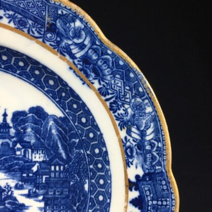 Caughley plate printed with the 'conversation' pattern, c. 1780-26552