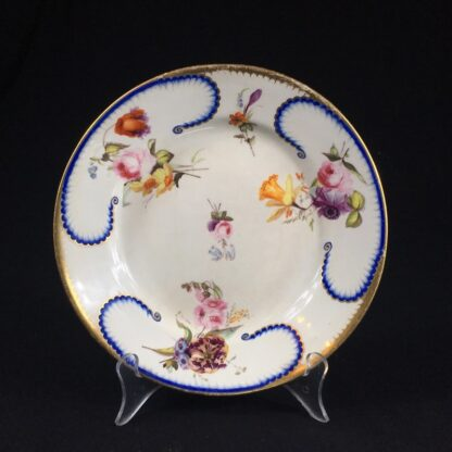 Derby Plate in the Sèvres manner, flower groups, c.1810 -0
